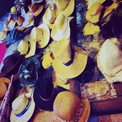 Camino de Santiago wall of hats